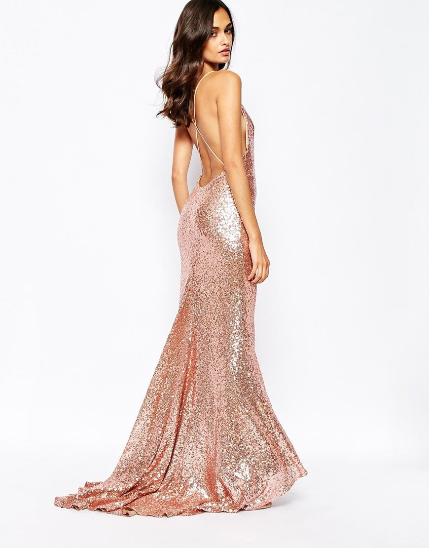 rosegold-sequin-maxi-dress- | Gold Maxi Dress | Pinterest | Sequin ...
