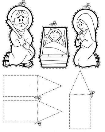 Resultado De Imagen Para Portal De Belen Echo Con Figura Geometricas Manualidades Navidad Infantil Páginas Para Colorear De Navidad Infantil Navidad