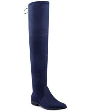 79ed6fbe2d1a Marc Fisher Humor Over-The-Knee Boots - Blue 8.5M