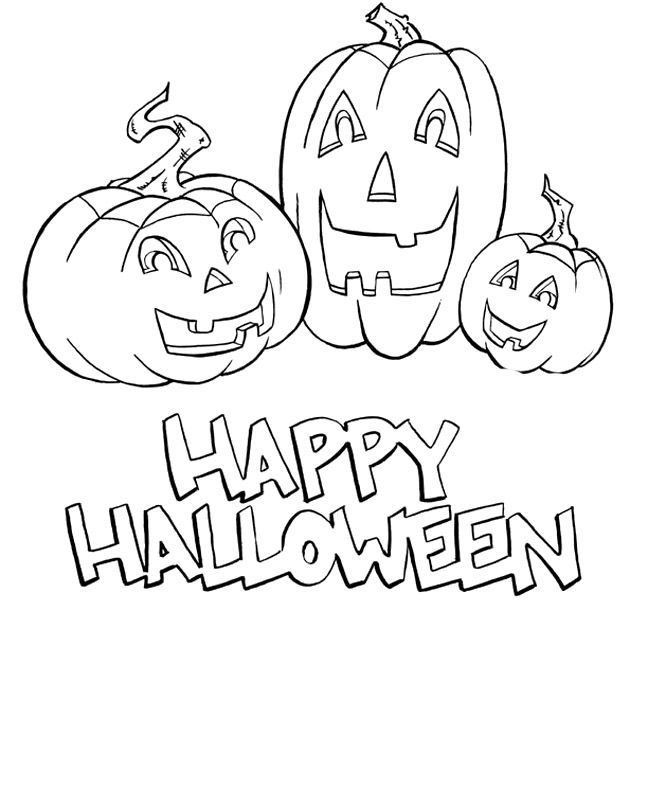 happy halloween coloring page az coloring pages