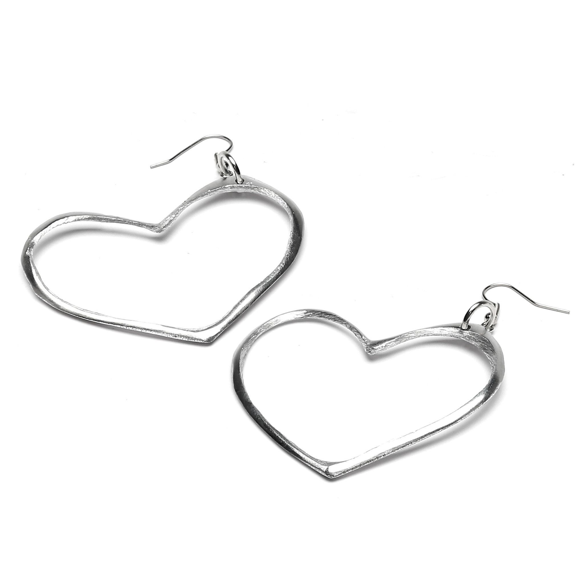 Coure Gm Large Heart Shaped Earrings