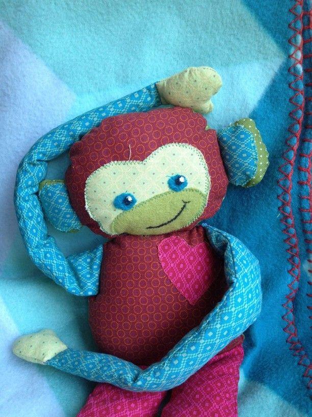 Affe Stofftier nähen - Make the monkey! Jojo der Affe-Nähanleitung ...