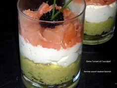 Verrine avocat-saumon-boursin - Paperblog