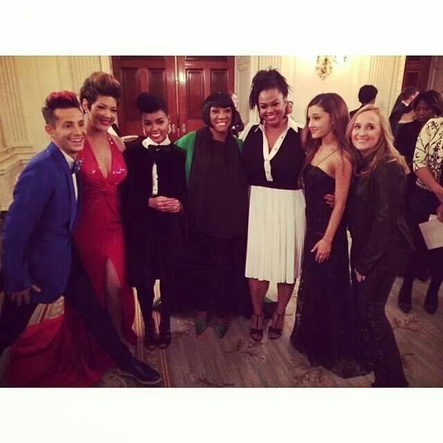 Tess Janelle Monae Patti Labelle Jill Scott Arianna Grande Others After Their White House Performance Tessanne Chin Bridesmaid Dresses Wedding Dresses