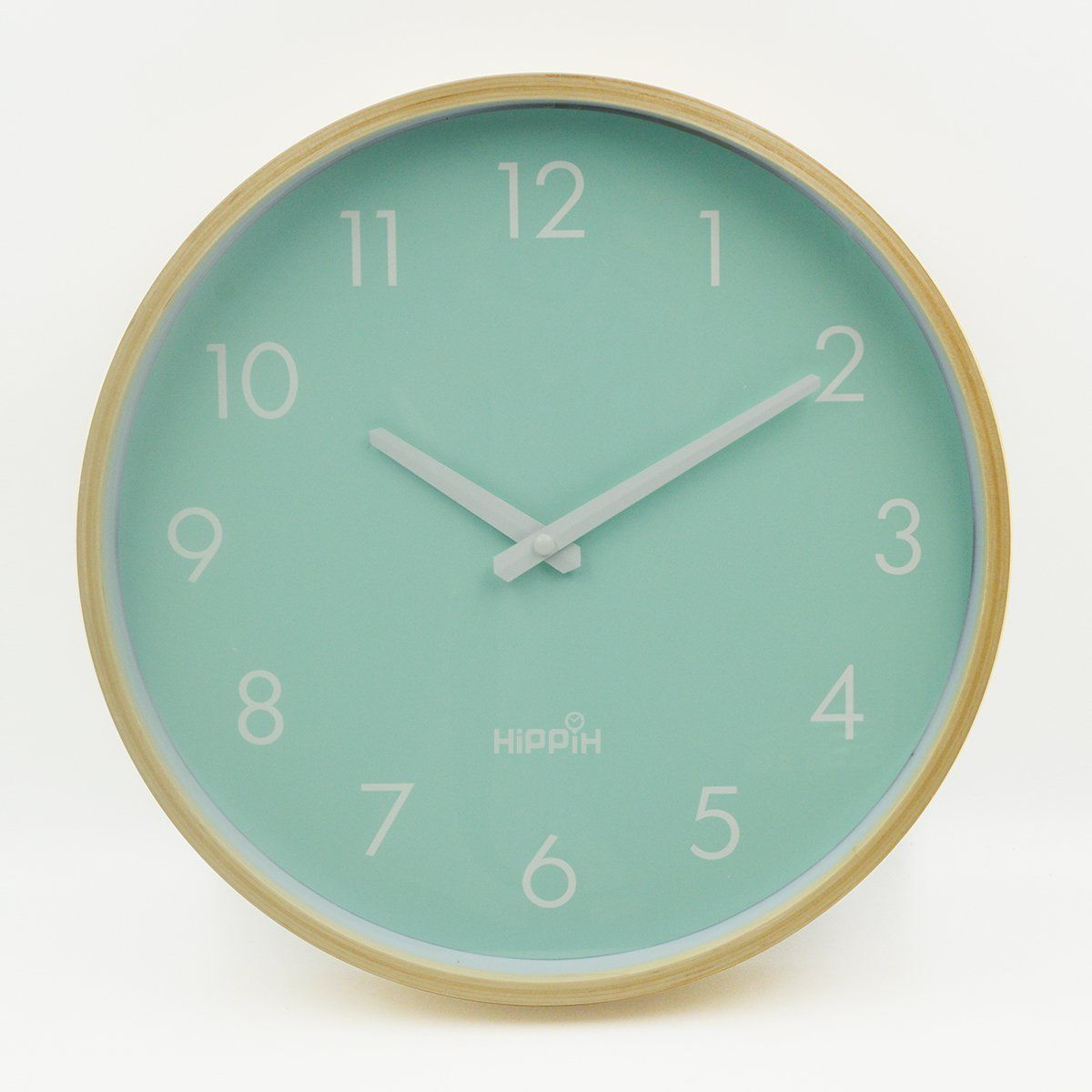 Amazoncom Hippih Silent Wall Clock Wood 12 Inches Non Ticking