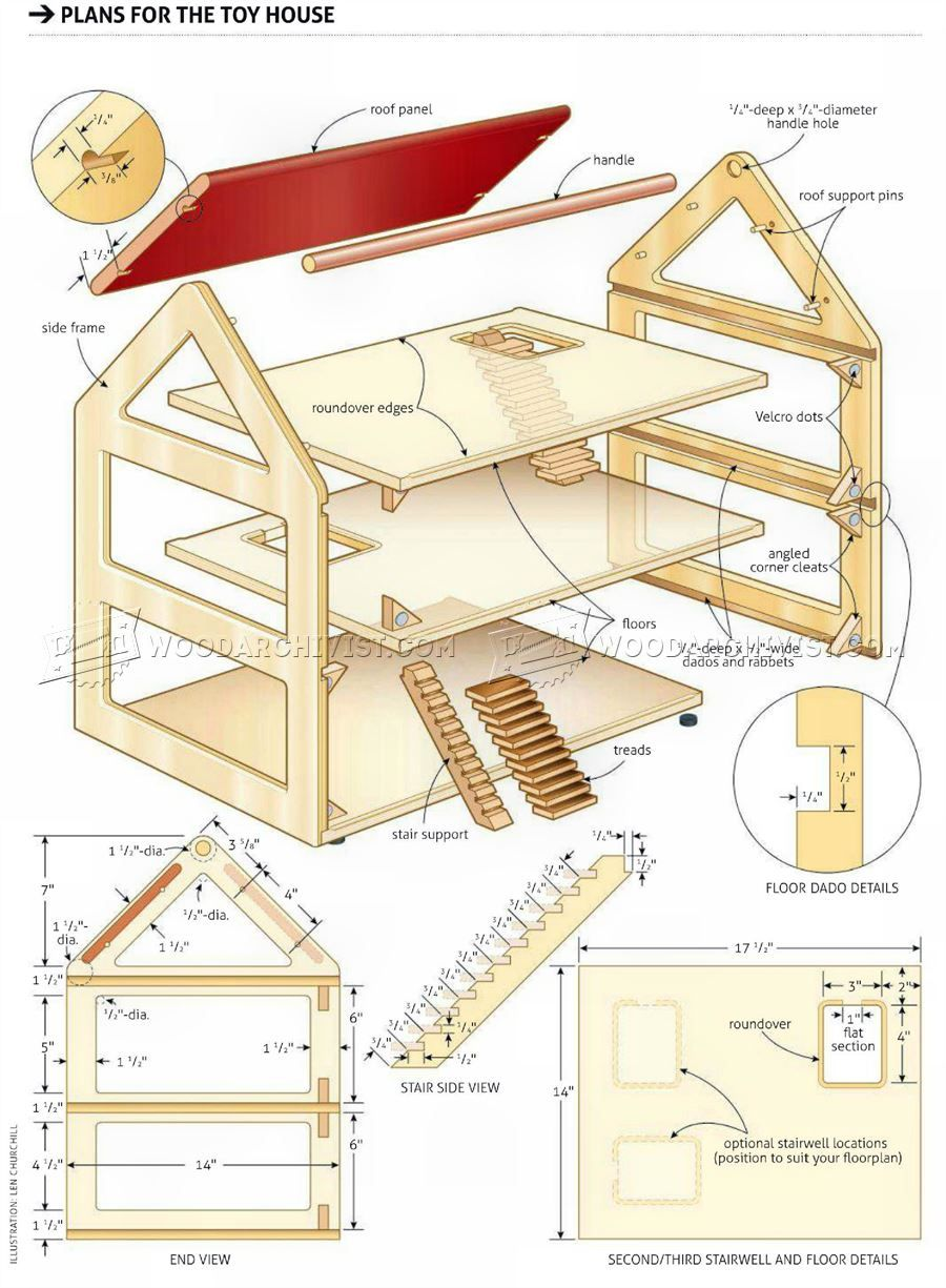 3198 toy house plans - wooden toy plans | dollhouse | doll