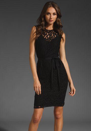 VELVET Ananda Sleeveless Tie Waist Dress in Black at Revolve Clothing - Free Shipping!