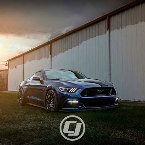 Daniel's S550 #Mustang is looking killer on a set of CJ Pony Parts Lowering Springs.