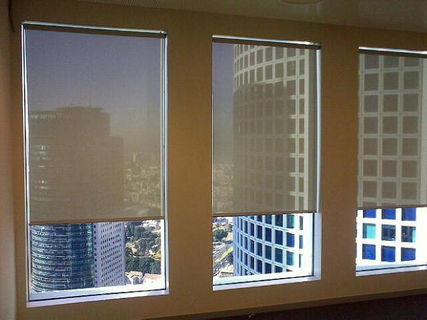 תוצאת תמונה עבור וילונות גלילה למשרדים Roman shade