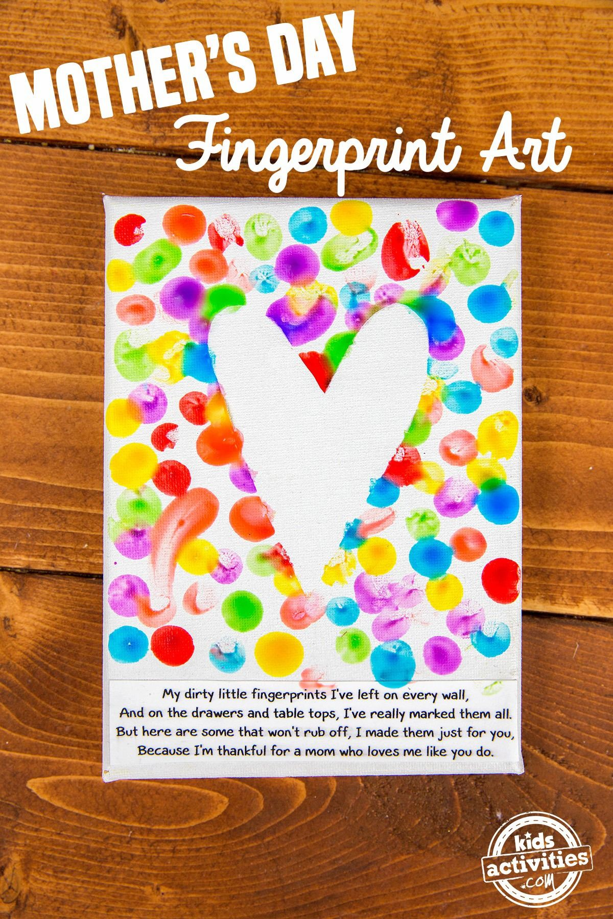 Mother S Day Fingerprint Art Craft Ideas Mothers Day Crafts For