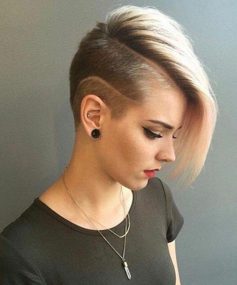Miradas ganadoras con peinados rapados mujer Fotos de estilo de color de pelo - Pin on Pelo
