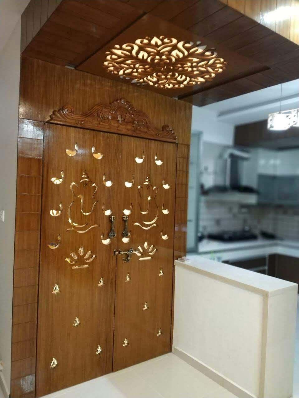 Wooden Entrance For Pooja Room Pooja Room Door Design Pooja Door Design Room Door Design Home simple pooja room door designs