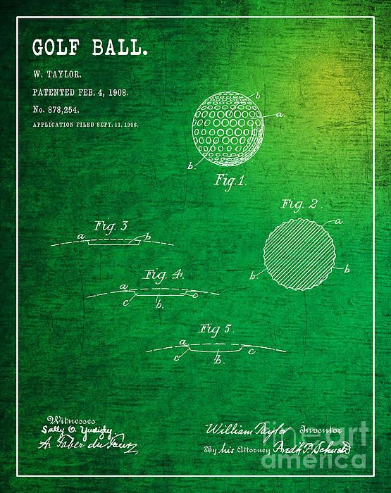 1908 golf ball patent art in white with dark green background 1908 golf ball patent art in white with dark green background patent awarded to william malvernweather