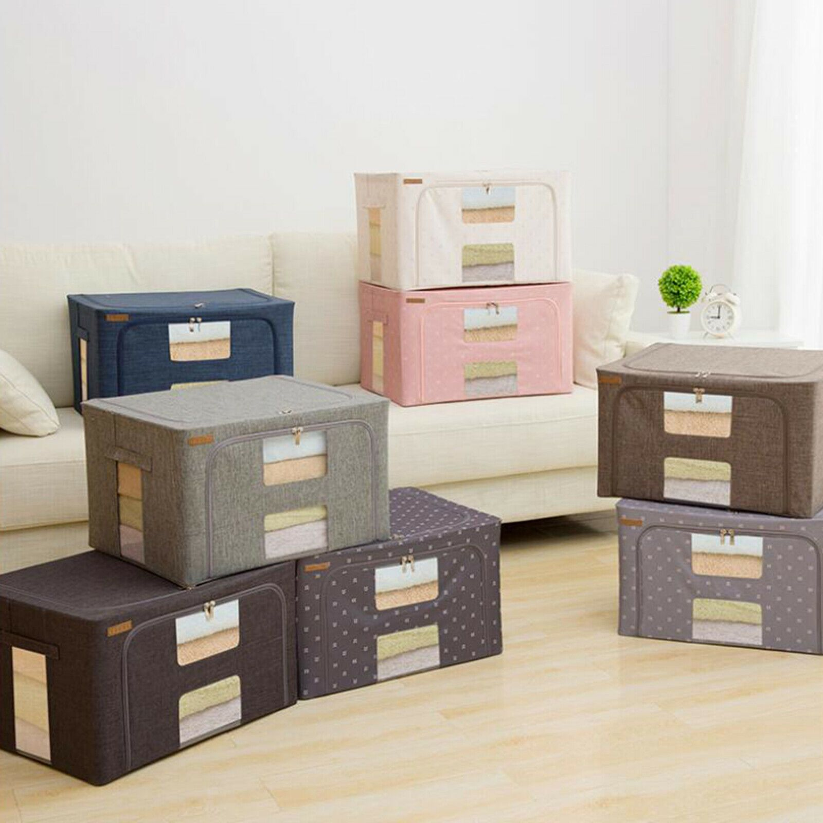 Foldable Storage Bag Clothes Blankets Quilt Closet Sweater Container Box Pouches Storage Containers With Drawers Stackable Storage Bins Decorative Storage Bins