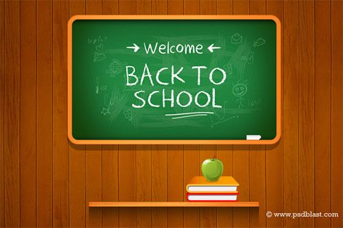 High Resolution Back To School Psd Background School Drawing With Chalkboard Hanging In Wooden Background A Perf Back To School Welcome Back To School School