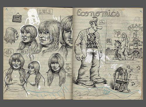 Robert Crumb sketchbook c. 1970 by sokref1, via Flickr
