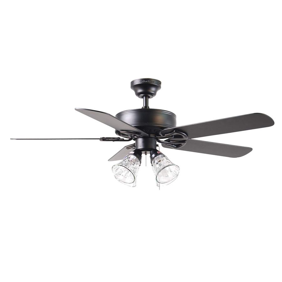 Harbor Breeze Springfield Ii 52 In Matte Black Ceiling Fan With Light Kit At Lowes