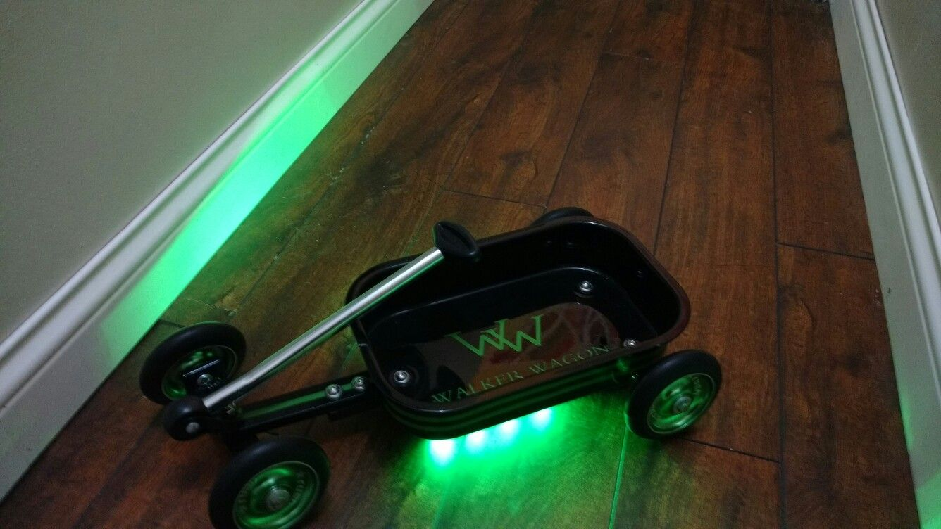 Built a custom low rider doll wagon for my boy :) Scooter wheels, LED underglow, aluminum frame, custom paint :) My favorite miniwagon build so far! Those wheels were near impossible to get!
