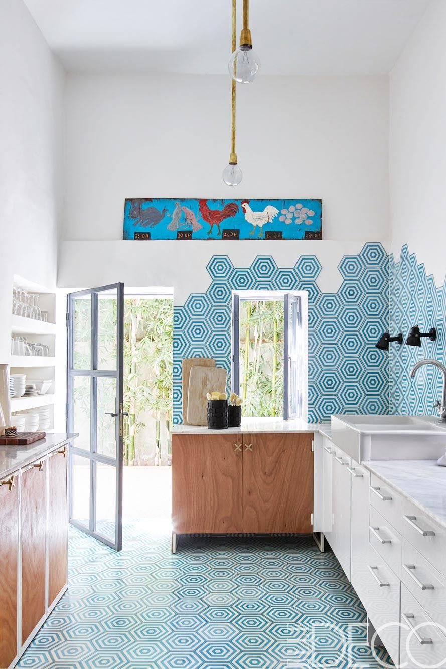 Bright modern kitchen in a 1950\'s home in Marrakech. | COOK ...