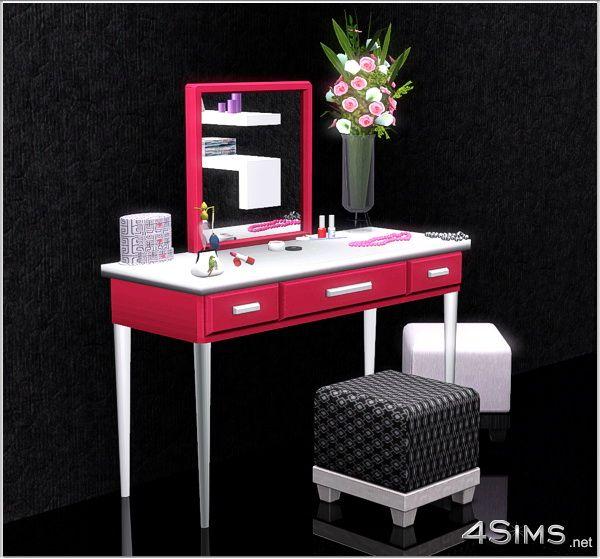 modern vanity set 4sims custom vanity that doubles as a desk pop up mirror