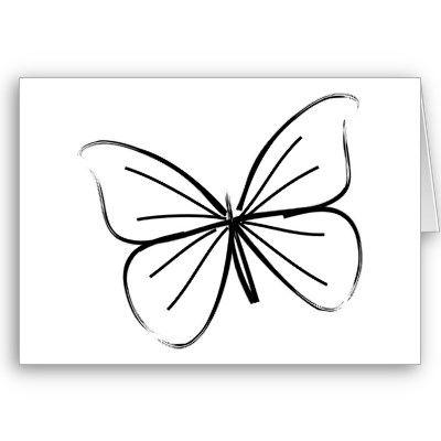 Dibujo lineal de la mariposa simple | Dibujo lineal, Las mariposas y ...