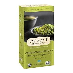 Numi Tea 유기농 차 루스 녹차 세리모니얼 말차 Ceremonial Matcha 1 06 온스 30 G Numi Tea Numi Organic Tea Ceremonial Matcha