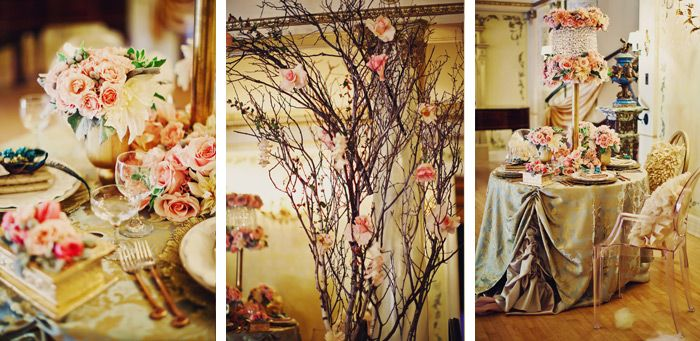 Details Of Floral Designs At Fantasy Wedding Vintage Photos By Tinywater Photography