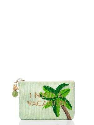 a9dafe36da6d on purpose palm tree beaded pouch - Kate Spade New York