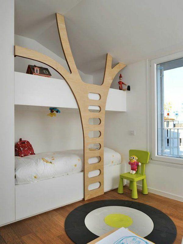 Lieblich Kinder Etagenbett  Bilder Jugendzimmer Baby Baumform Treppe
