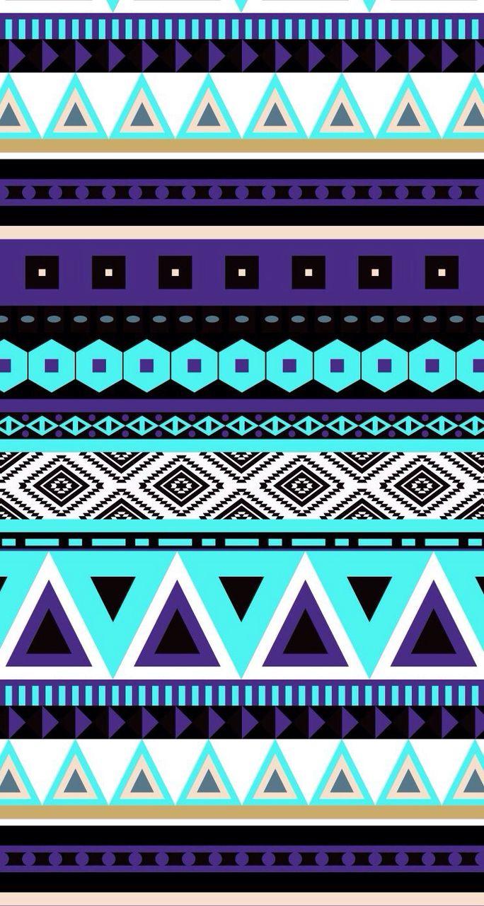 On We Heart It Tribal Print Wallpaper Tribal Wallpaper Aztec Wallpaper