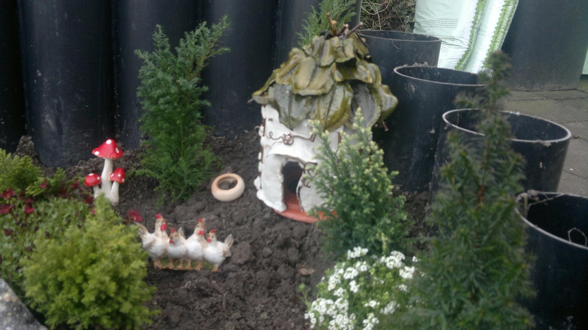 sprookjeshuisje in de tuin