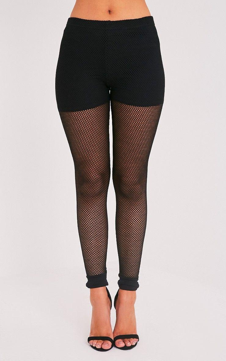 ae28b866aef7a0 Andrea Black Fishnet Leggings | cloe | Fishnet leggings, Black ...
