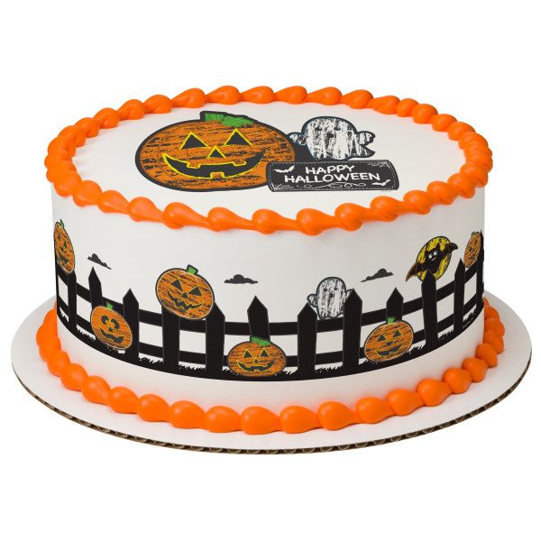 Halloween cake topper, Halloween cupcake toppers, edible Halloween