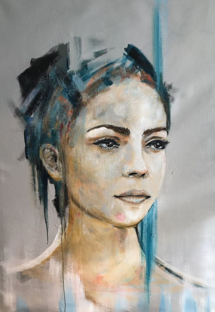 Image Moderne Malerei Acrylmalerei Portrait Moderne Kunst Von