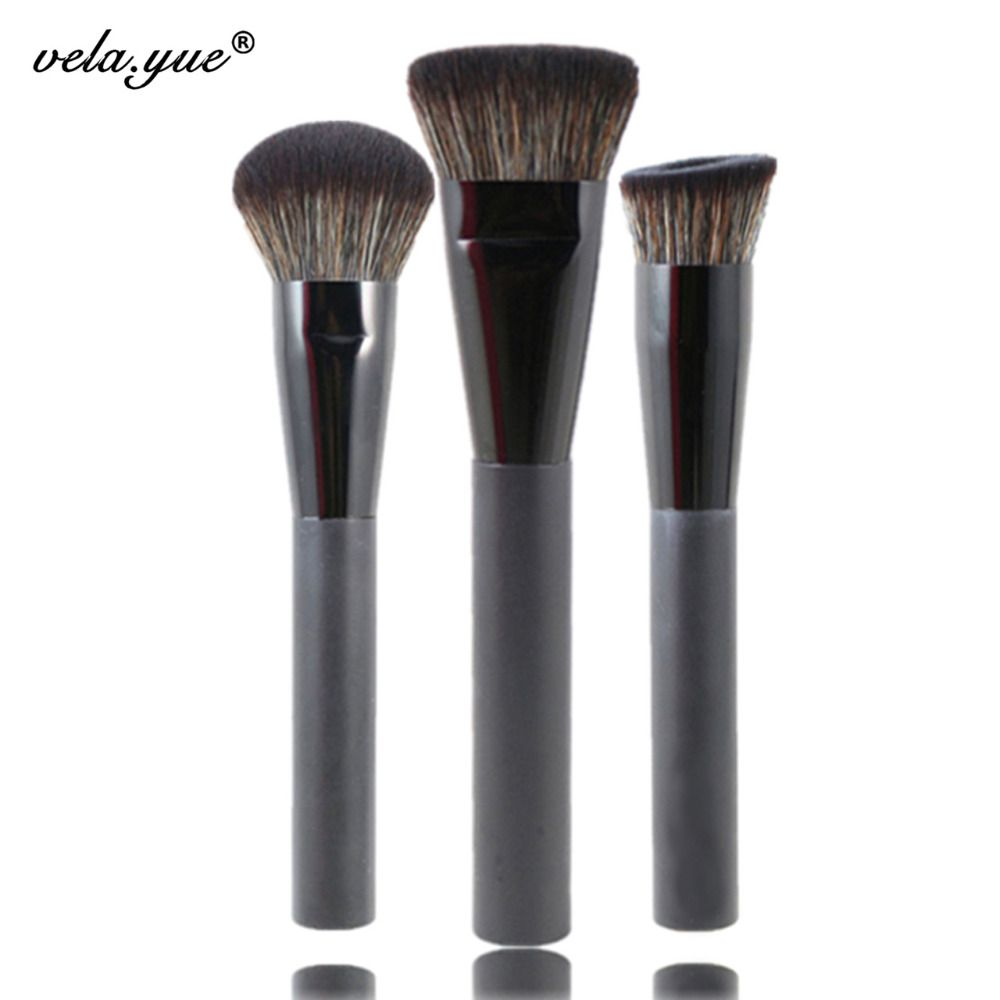 Premium 3 pcs face makeup brushes set multiusos cara herramientas de maquillaje kit
