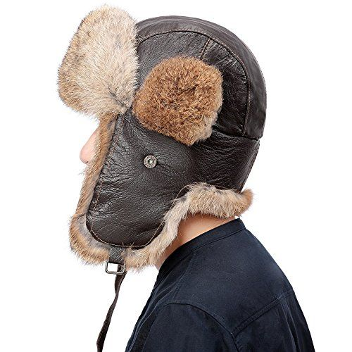 Trapper hats Snow hats Boys Aviator caps Girls Skiing Camouflage Brown FREE