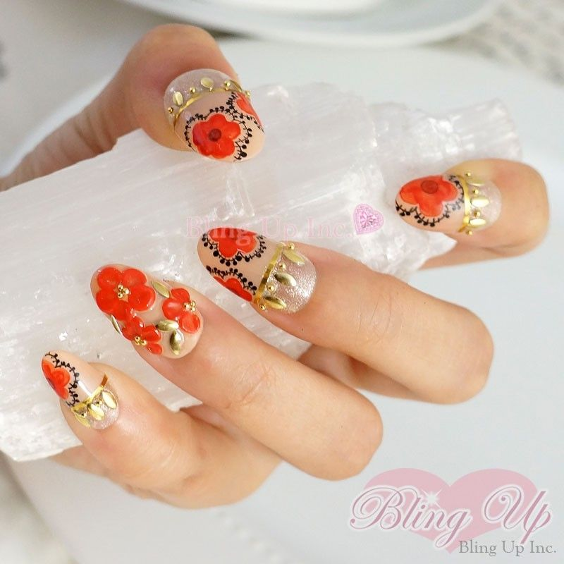 Fantastic Bling Up Nail Art Illustration - Nail Art Ideas - morihati.com