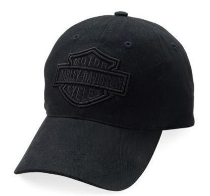 Harley-Davidson® Men s Phantom Ghost Baseball Cap. 99500-03V Washed twill.  Tone-on-tone 3-D Bar   Shield logo embroidered graphics and slider closure. 6071760c9c41