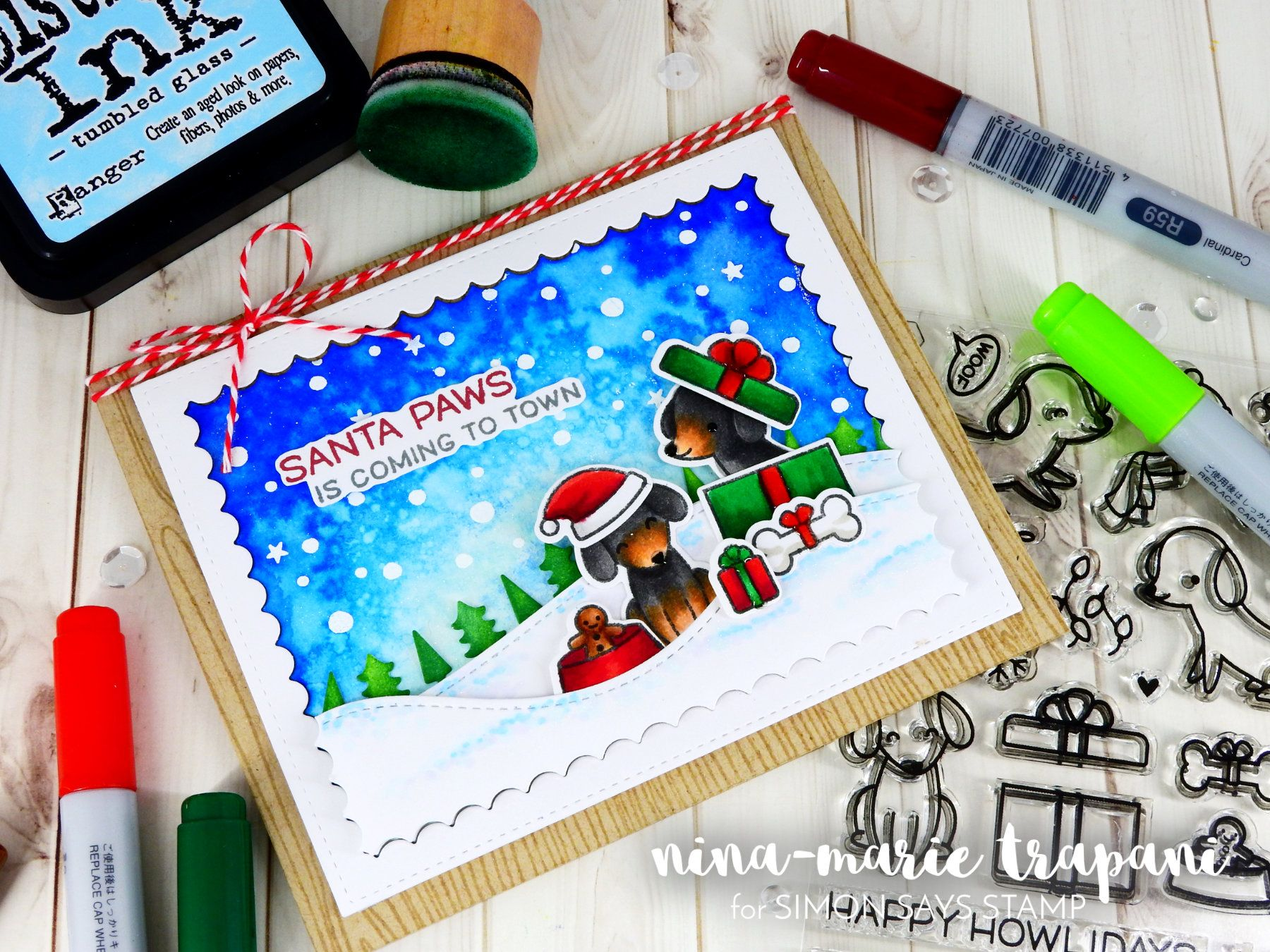 STAMPtember: Holiday Scene Featuring Happy HowlidaysNina-Marie Design   Nina-Marie Design