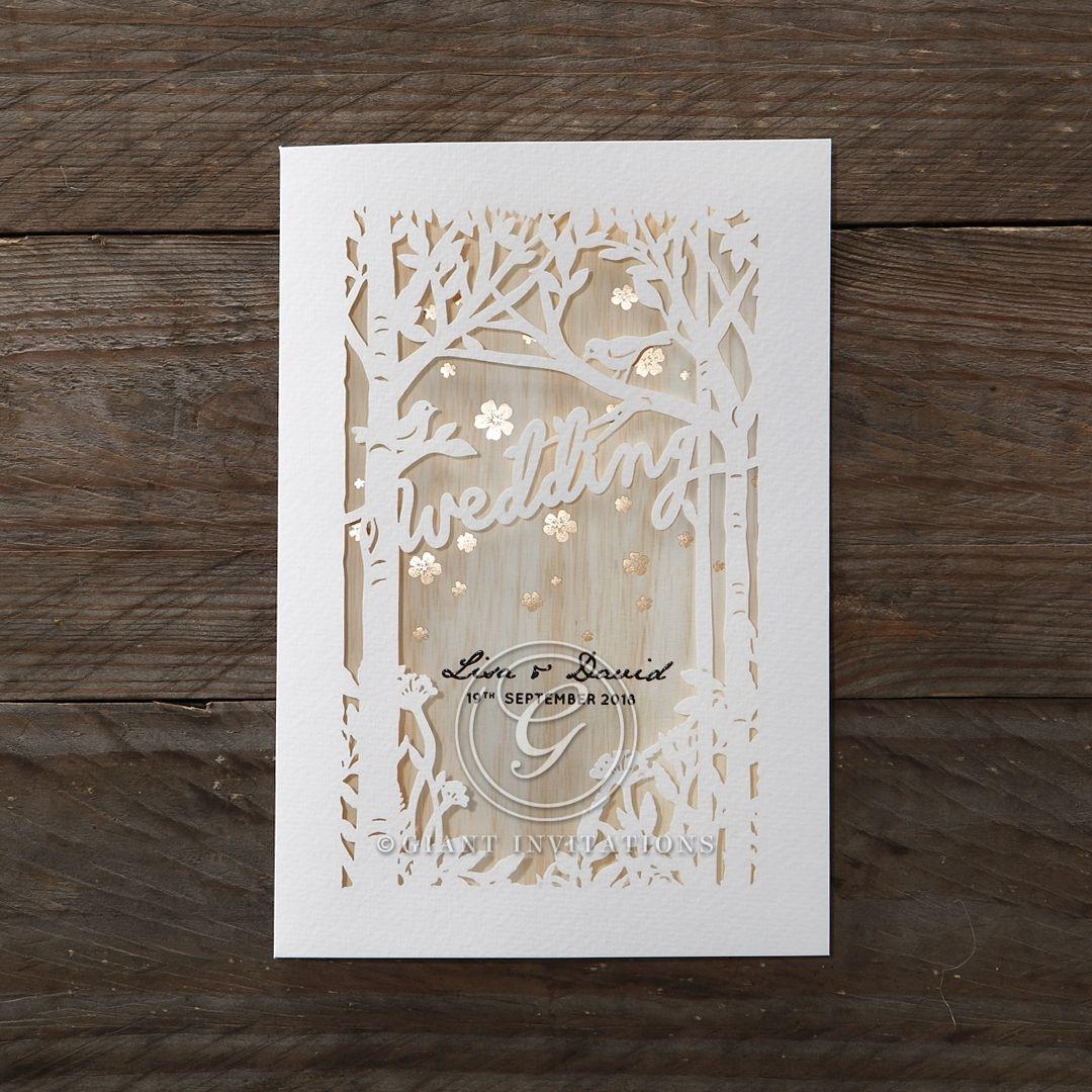 Brown Splendid Laser Cut Scenery - Wedding invitation - 29 | Wedding ...