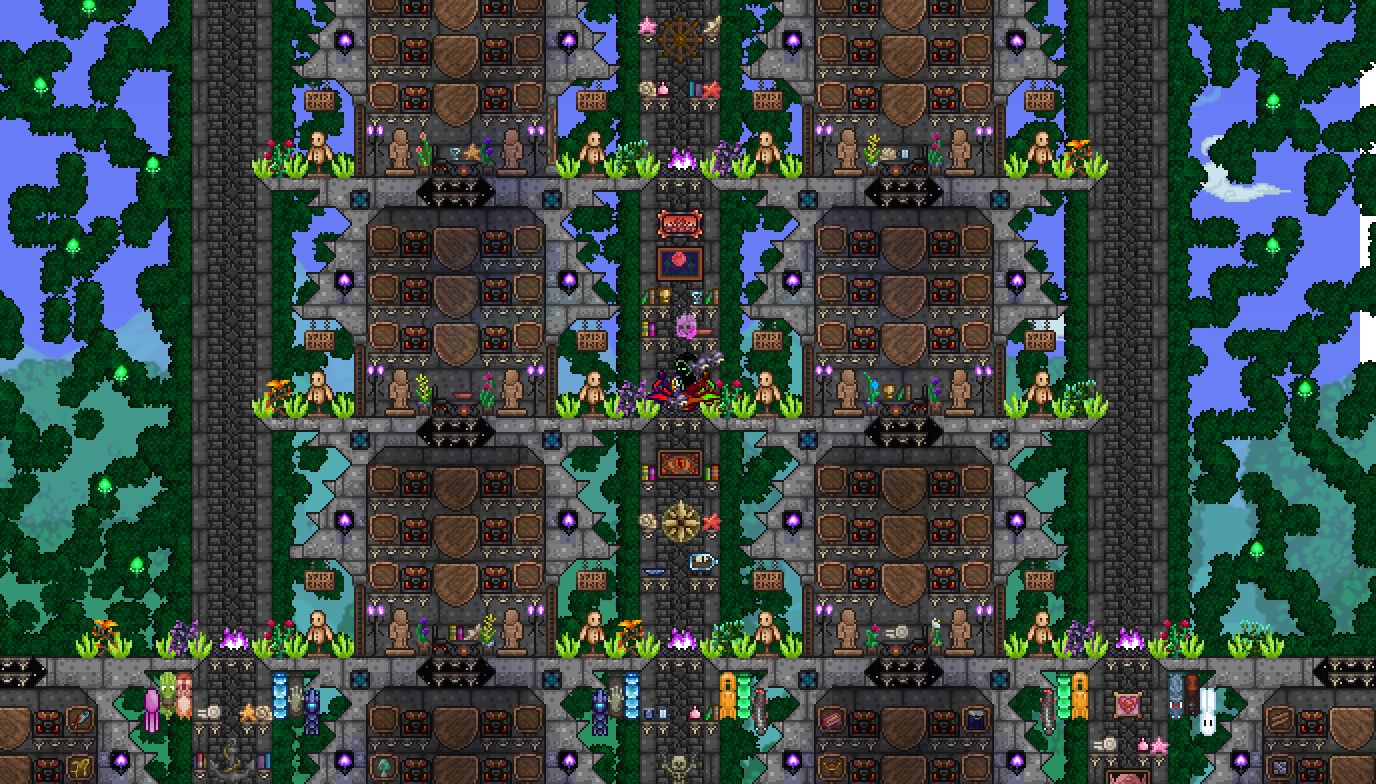 How To Make Stairs In Terraria 12 destination wire length trick up to 16. free wallpapaer download every day