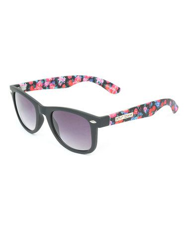 Look what I found on #zulily! Black & Bright Floral Wanderer Sunglasses #zulilyfinds