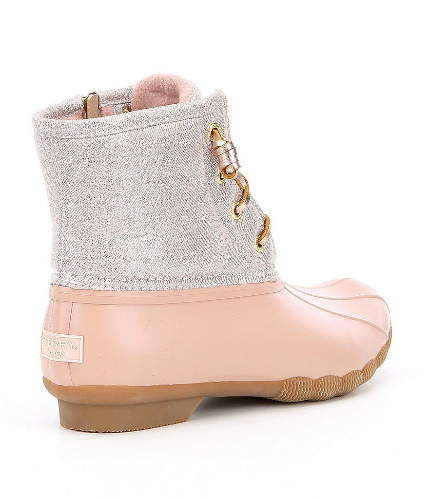 sperry s saltwater metallic canvas cold weather boots