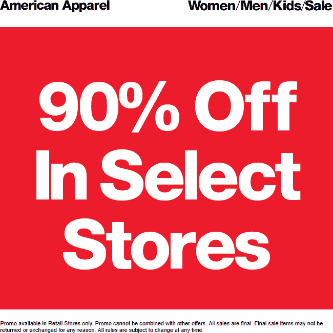 Pinned April 21st 90 Off At Americanapparel Thecouponsapp Shopping Coupons Kids Sale American Apparel