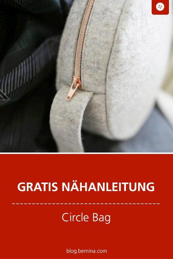 Trendige Circle Bag selber nähen - mit kostenloser Anleitung #diytutorial