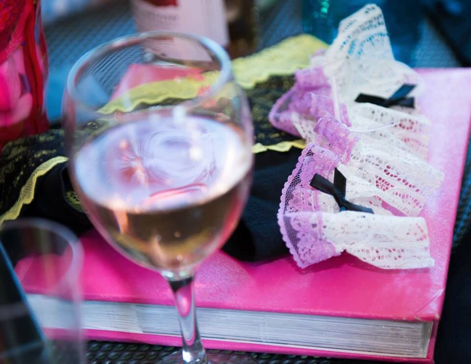 Fizz always helps with the creative process #knicker-making #henparty
