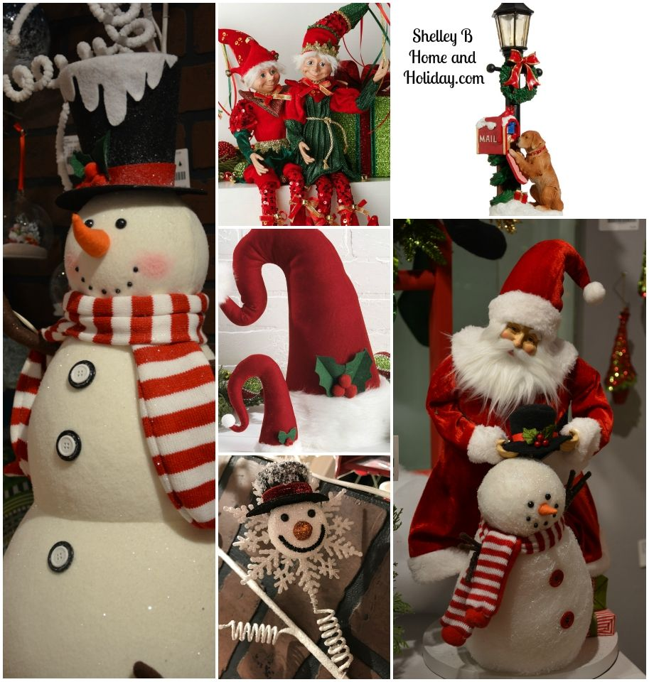 Raz Christmas Snowmen Santa Elf And Dog Themed Decorations From Our Online Store Visit The Sh Elf Christmas Decorations Elf Christmas Tree Elf Centerpieces