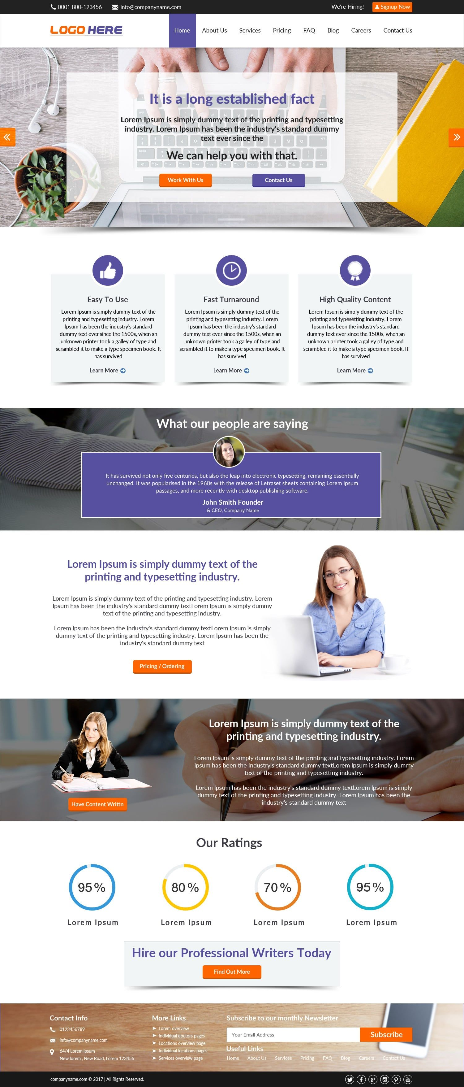 Content Writing Website Template Free Psd Design Website Template Psd Designs