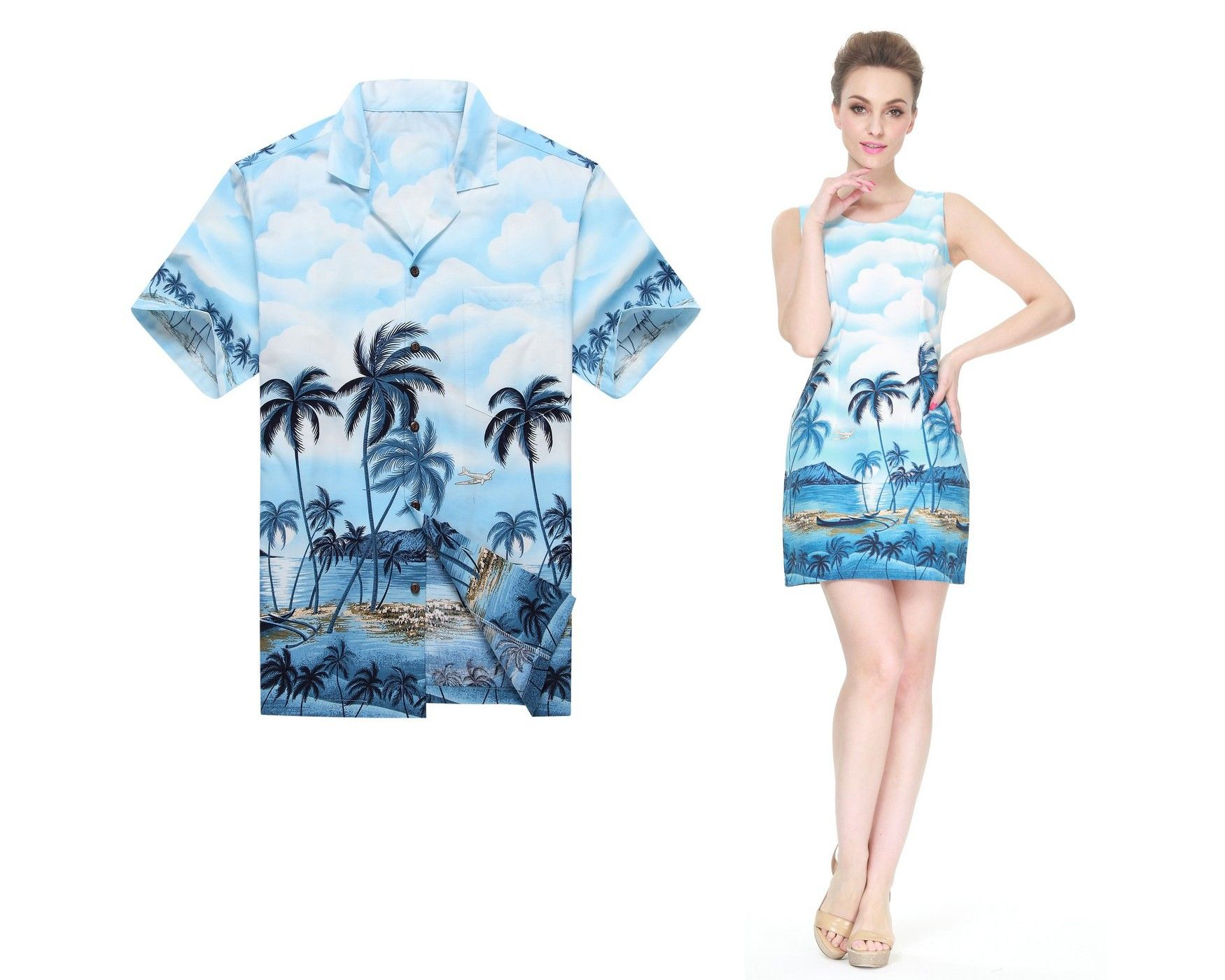 COUPLE MATCHING MADE IN HAWAII MEN SHIRT AND WOMEN TANK DRESSES IN ...