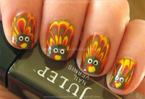 25 Inspiring Easy Thanksgiving Nail Art Designs Ideas Trends 2015 5